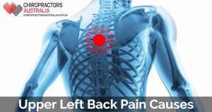 causes of upper left back pain