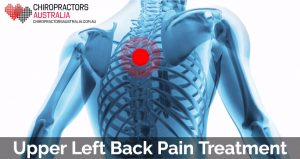 best treatment for upper left back pain