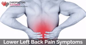 lower left back pain symptoms