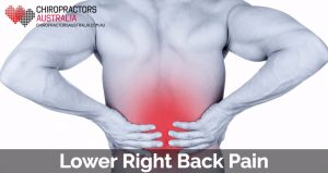 lower right back pain