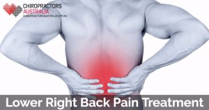 lower right back pain treatment