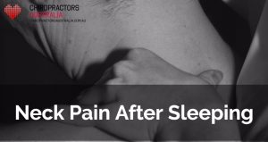 neck pain after sleeping